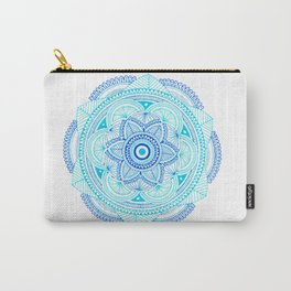 Mandala Art 04 (Blues) Carry-All Pouch