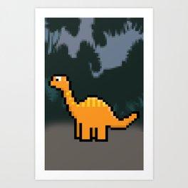 Little Dinosaur Art Print