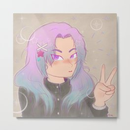 Shoujo Sparkle Metal Print
