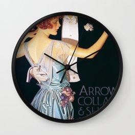Joseph Christian Leyendecker - Arrow Collars And Shirts For Dress - Digital Remastered Edition Wall Clock