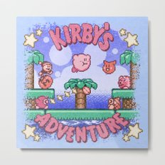 Adventure Kirby Metal Print