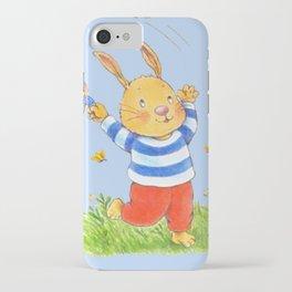 La joie d'un lapin heureux... iPhone Case