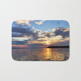 Sunset Over Lake Champlain Bath Mat