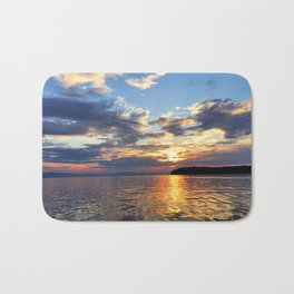 Sunset Over Lake Champlain Bath Mat