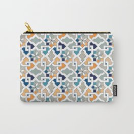 Geometric Pattern - Oriental Design Carry-All Pouch