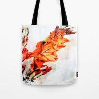 artsy Tote Bags featuring gladioli Artsy by Artsy Arts By Rosanna.