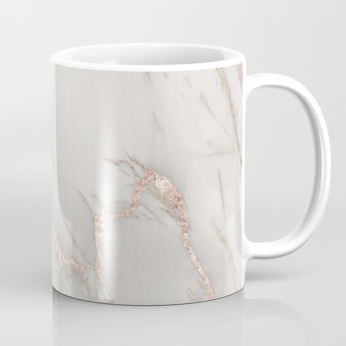 Marble Rose Gold Blush Pink Metallic by Nature Magick Coffee Mug