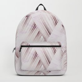 Abstract geometric pattern.Pinkish beige striped triangles . Backpack