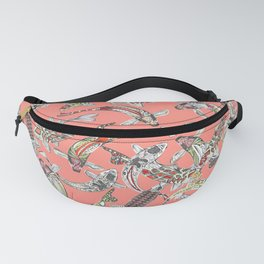 lucky koi coral Fanny Pack