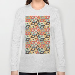 Pastel Geometric Pattern Long Sleeve T-shirt