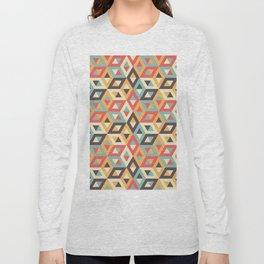 Pastel Geometric Pattern Long Sleeve T-shirt