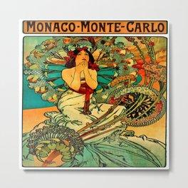 Vintage Monaco Monte-Carlo Poster Metal Print