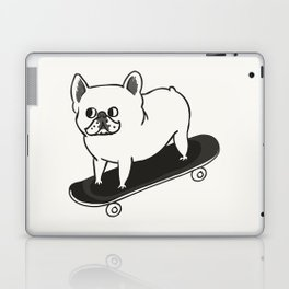 Skateboarding French Bulldog Laptop & iPad Skin