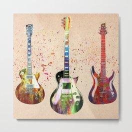 Sounds of music. Guitars. Metal Print