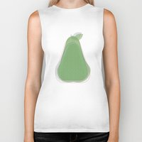 pear Biker Tanks featuring Pear by Oh! My darlink