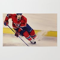 hockey Area & Throw Rugs featuring Canadian hockey by LisaBCreations