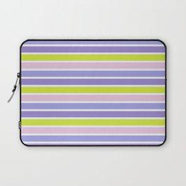 Trendy violet pink yellow modern stripes pattern Laptop Sleeve