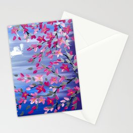 Cherry blossom Branches Stationery Cards