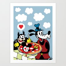 MICKEY'S PIZZA Art Print
