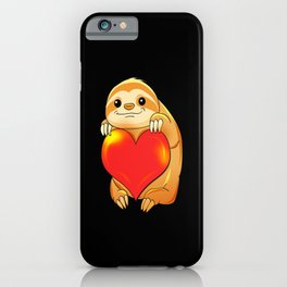 Sloth Love Lazy Humor Chill Zoo Animal Gift iPhone Case