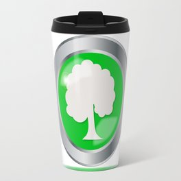 Oak Tree Button Travel Mug