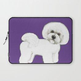 Bichon Frise dog on Ultraviolet Laptop Sleeve