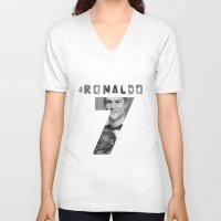 ronaldo V-neck T-shirts featuring Cristiano Ronaldo by Aeriz85