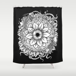 Malignant Bloom Shower Curtain