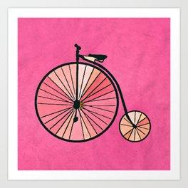 Old bicycle Art Print