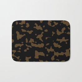 Camouflage Black and Tan Bath Mat