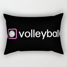 Volleyball (Pink) Rectangular Pillow