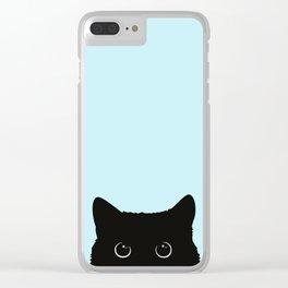 Black cat I Clear iPhone Case