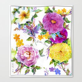 Gather Roses Canvas Print