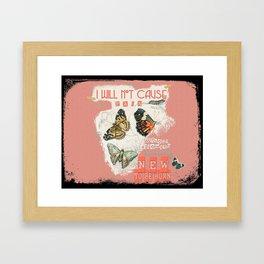 ISAIAH 66:9  Abstract Scripture Collage Art Butterflies Bible Verse Framed Art Print