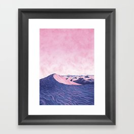 Dune Card by Chrissy Curtin Framed Art Print