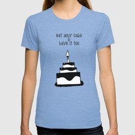 Monochrome birthday cake T-shirt