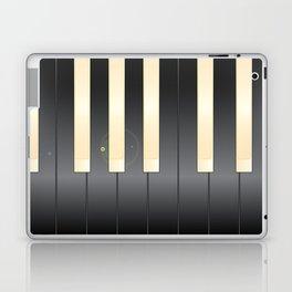 White And Black Piano Keys Laptop & iPad Skin