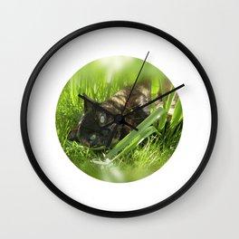 wild cat III Wall Clock