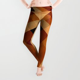 Autumn Groovy Checkerboard Leggings