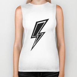 Lightning - Black and White Biker Tank