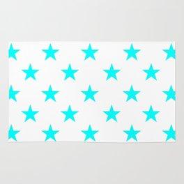 Stars (Aqua Cyan/White) Rug