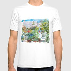 Summer in Kennebunkport White Mens Fitted Tee MEDIUM