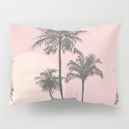 Tropical Sunset In Peach Coral Pastel Colors Pillow Sham