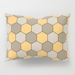 Honeycombs op art beige Pillow Sham