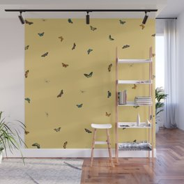 Twiggy Surprise (Yellow) Wall Mural