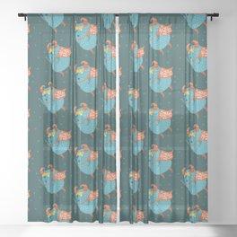 Cute Monsters patterns Sheer Curtain