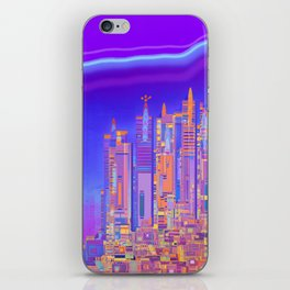 Saturnian Ultraviolet Wave iPhone Skin