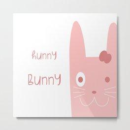 Hunny Bunny Metal Print