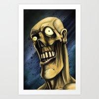 Portrait of a Zombie Art Print