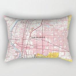 Albuquerque New Mexico Map (1978) Rectangular Pillow